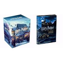 Box Harry Potter 7 Livros + Box 8 Dvds Filmes Originais + Nf