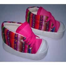 Zapatillas Botitas De Aguayo Para Bebe 0-12 Meses X12p