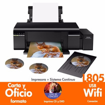 Epson L805 Impresora Tinta Continua Foto Cd/dvd Sublima Wifi