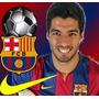 Kit Imprimible Barcelona Luis Suarez Futbol Fiesta 3x1