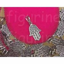 Pingente Mão Hamsa- Mão Deus - Mão Fátima Em Prata 925