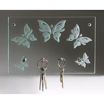 Porta Llaves, Portallaves De Cristal Moderno Mariposa