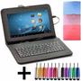Funda Tablet 10 Teclado Usb Universal Nuevo Con Ñ + Regalos!