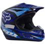 Capacete Fox V1 Motocross Trilha Enduro Off Road Race Azul