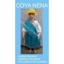 Disfraz Patrio Coya Nena Pollera Acto Escolar Talle 4/6/8/10