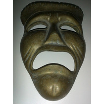 Mascara Antigua De Bronce (12 Cms Altura)