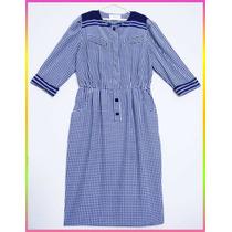 Nuevo Vestido Azul Verano Sellado Seda Navidad Dkz