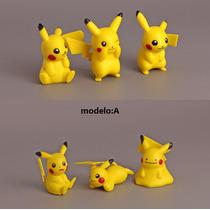 Kit Com 6 Pikachu(4~6cm) Pokémon Go Pokebola She