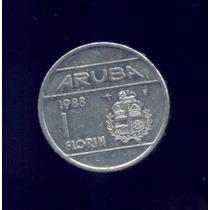Moneda De Aruba 1 Florin Arubeño 1988
