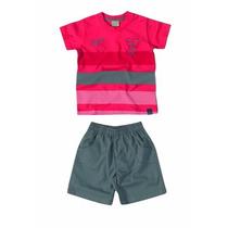 Conjunto Infantil Menino Camiseta E Bermuda Carinhoso C62660