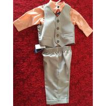 Nautica Traje Con Camisa De Vestir Y Corbata Y Vest Original