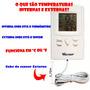 Termômetro Acessório Instrumento Digital Ambientes Medidor