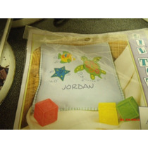 Kit De Fieltro Para Elaborar Cojín Infantil Azul