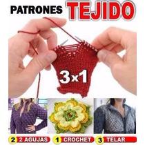 Patrones De Ropa + Accesor Crochet, Tejido Dos Agujas, Telar