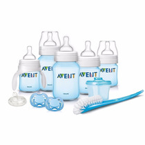 Kit Biberones Anticolicos Philips Avent Color Azul