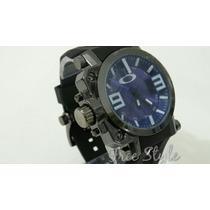 Relógio Masculino Esporte De Luxo Oakley Gearbox Azul