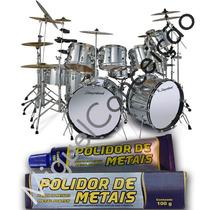 Metal Polish Cromados Metal Instrumentos Musicais Bateria