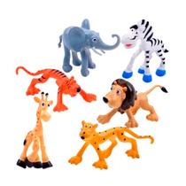 Brinquedos Educacionais Zoológico - Kit Com 6 Animais