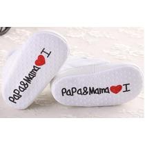 Zapatitos Bebe I Love Mamá & Papá