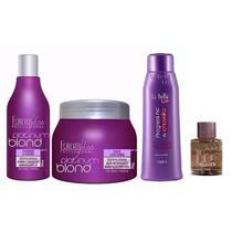 La Bella Liss Progressiva No Chuveiro+ Kit Platinum Blond+ B