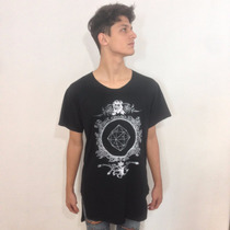 Kit 3 T- Shirts Alongada Estampa Man Swag Novela