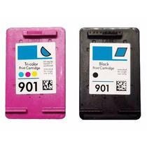 Cartucho Hp 901 Preto 901 Color J4540 J4550 J4580 4600 S