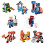 Set Complet Sw6 Minecraft Heroes Spiderm Compatible Con Lego