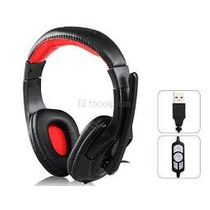 Audifonos Stereo Con Microfono Sound Friend Usb Gamer Pc Sa