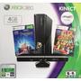 Xbox 360 Slim 4gb + Kinect +2 Juegos Originales + Chip Rgh