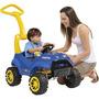 Carrinho De Passeio Criança Pedal E Empurrador Smart Menino