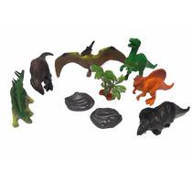 Set Dinosaurios 9 Piezas Juguete Niños Niñas Blister Ju-1887
