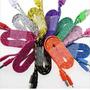 Cable Micro Usb Nylon De Colores 1 Metro Samsung Blu