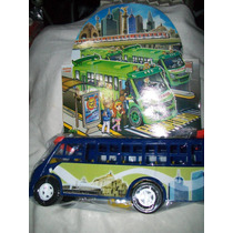 Gcg Camion Microbus Azul Mexicano Plastico 25 Centimetros
