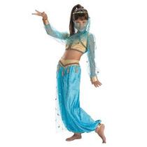 Disfraz De Bella Genio Princesa Jasmine Aladino Para Niñas