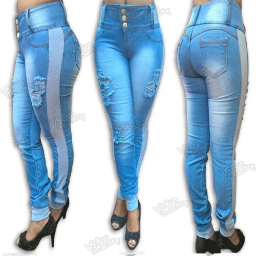 d2520af60d Calça Jeans Feminina Destroyed Cós Alto E Punho De Moletom - R  89 ...