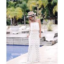 Vestido Longo Tricot Ciganinha Verão Alegrastore