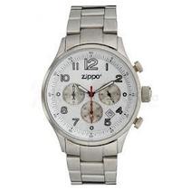 Relógio Zippo White Face Stainless Steel Band 45000