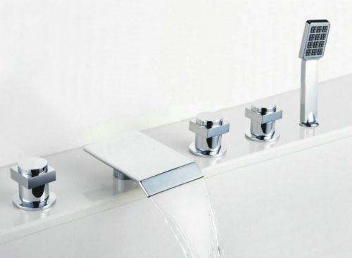 set llaves y grifo con ducha de mano para tina de ba o 5