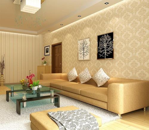 acerte na escolha papel de parede para sala : Papel De Parede Compose Listrado Damask Frete Gr?tis 5172 ...