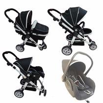 Carrinho 3 Roda Dardara Absoluto+bebê Conforto Três Reversiv
