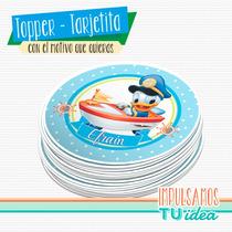 Pato Donald Bebé - Tarjetita Souvenir Donald Bebé Para Impri