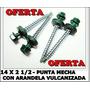 Tornillo Autoperforante Punta Mecha 14x2 1/2 X 1000 Uni