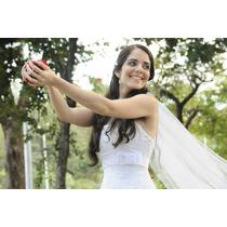 Vestido De Noiva Em Renda (única Dona) - Frete Grátis