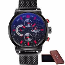 Relógio Luxo Esportivo Naviforce