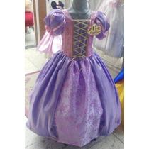 Vestido Disfraz De Princesa Rapunzel.