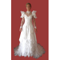 Vestido De Noiva Importado Manga Longa