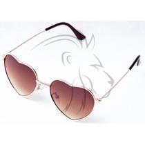 Óculos De Sol Coração Infantil Juvenil Feminino Lentes Uv400