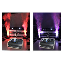 Maquina Fumaça Up Led 1500w 4x9w Rgb Triled+nf+pronta Entreg