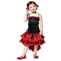 Fantasia Infantil Feminina Dançarina Can-can M 1,10 A 1,20