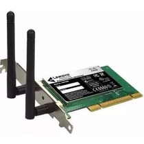 Placa De Rede Wireless Wifi Pci Cisco Pc 600 Mbps 2 Antenas